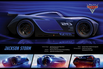 Cars 3 - Jackson Storm Stats плакат