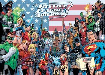 DC COMICS - jla classic group - плакат