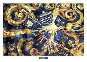 DOCTOR WHO - exploding tardis - плакат