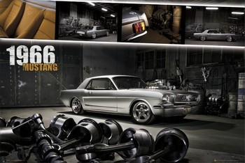 Ford Mustang - shelby 1966 - плакат