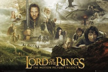 LORD OF THE RINGS - trilogy - плакат