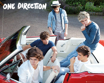 One Direction - car - плакат