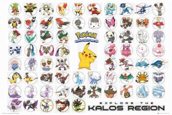 Pokemon - Kalos Region - плакат