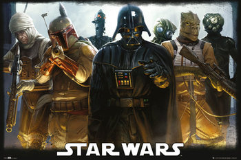 STAR WARS - Bounty Hunters плакат