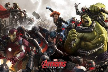 The Avengers: Age Of Ultron - Battle плакат