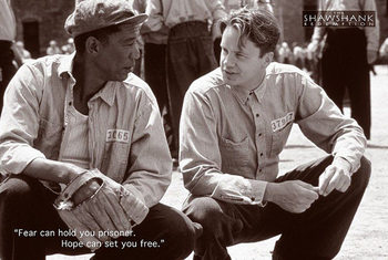 THE SHAWSHANK REDEMPTION - tim robbins, morgan freeman плакат