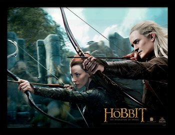THE HOBBIT: THE DESOLATION OF SMAUG - tauriel & legolas Рамкиран плакат