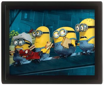 Grusomme mig - Despicable Me - Minions On A Skyscraper 3D plakat indrammet
