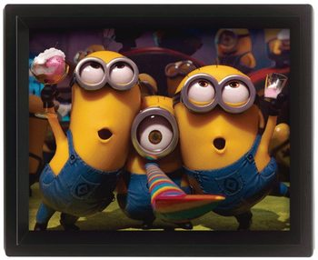 Grusomme mig - Despicable Me - Party 3D plakat indrammet