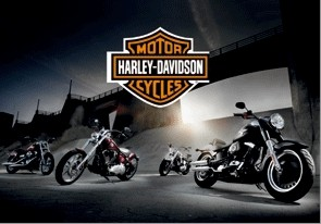 Harley Davidson - bikes  3D Plakat