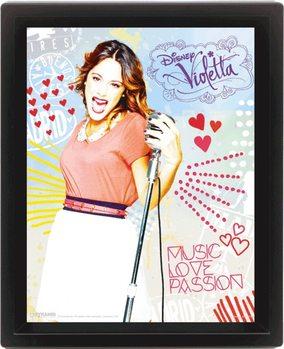 3D plakát s rámem Violetta - Passion