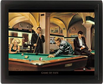CHRIS CONSANI - game of fate 3D plakát keretezve
