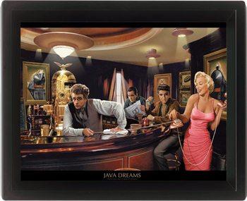 CHRIS CONSANI - java dreams 3D plakát keretezve