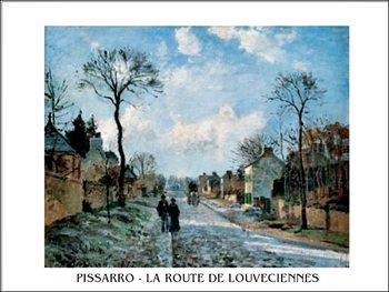 A Road in Louveciennes Festmény reprodukció