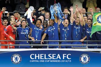 Chelsea FC - Cup Winners Balcony Affiche