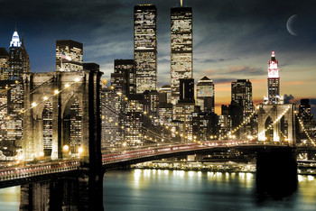 Manhattan - lights Affiche