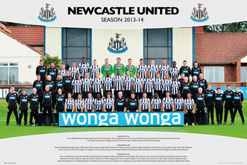 Newcastle United FC - Team Photo 13/14 Poster