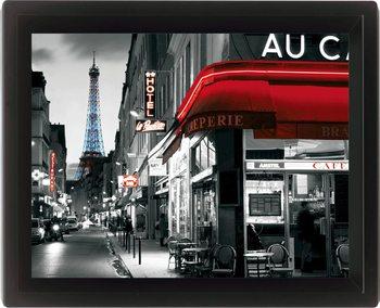 RUE PARISENNE Poster en 3D encadré