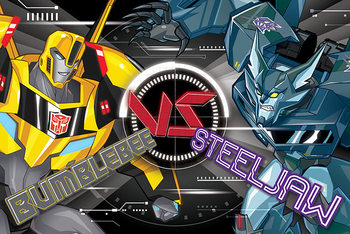 Transformers: Robots in Disguise - Bb Vs Steeljaw Affiche