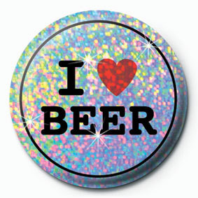 I LOVE BEER Badge