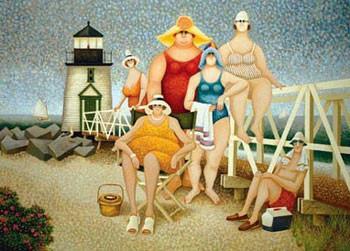 Beach Vacation Festmény reprodukció