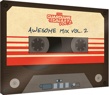 Canvastavla Guardians Of The Galaxy Vol. 2 - Awesome Mix Vol. 2
