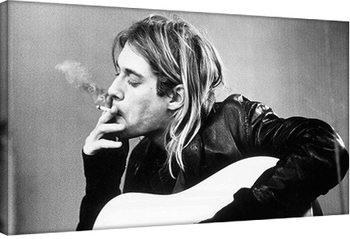 Bilden på canvas Kurt Cobain - smoking