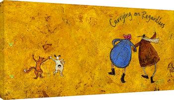 Bilden på canvas Sam Toft - Carrying on regardless II