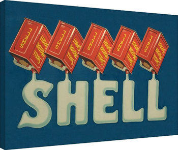 Canvastavla Shell - Five Cans 'Shell', 1920