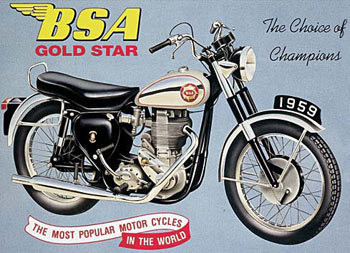 BSA GOLDSTAR Metalen Wandplaat