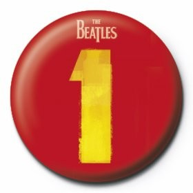 BEATLES - number 1 button