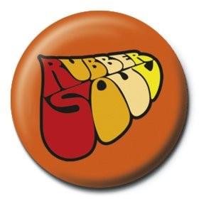 BEATLES - rubber soul logo button