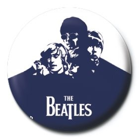 Button BEATLES - blue
