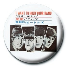 Button BEATLES - i want to hold your hand