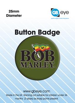 Button BOB MARLEY - logo