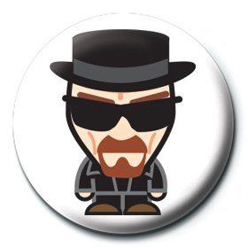 Button Breaking Bad - Heisenberg suit