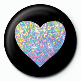 SILVER HEART Button