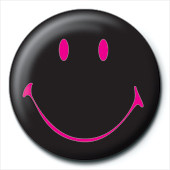 Button SMILEY - black