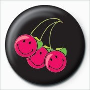Button SMILEY - CHERRIES