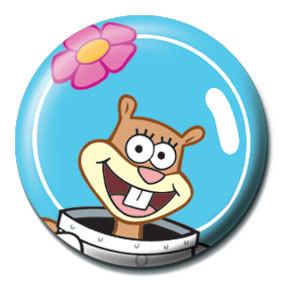 Button SPONGEBOB - sandy gesicht