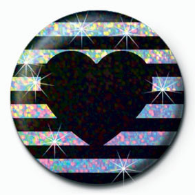 STRIPY HEART Button