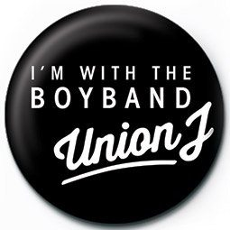 Button UNION J - i'm with the boyband