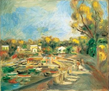Cagnes Landscape, 1910 - Cagnes Countryside  Reproduction d'art