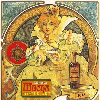 Alphonse Mucha - Poster Art  Calendrier 2018
