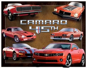 Camaro 45th Anniversary Metalen Wandplaat