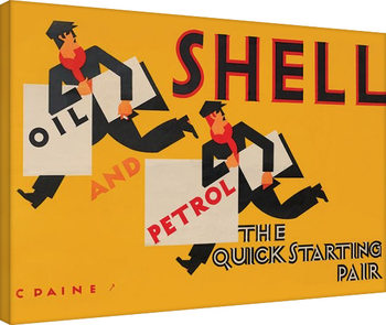 Shell - Newsboys, 1928 canvas