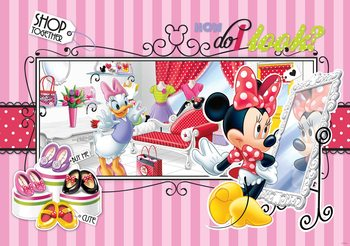 Carta da parati Anatra Disney Minnie Mouse Daisy
