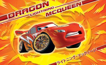 Carta da parati Disney Cars Lightning McQueen
