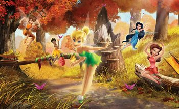 Carta da parati Fiori di Disney Tinker Bell Rosetta Klara