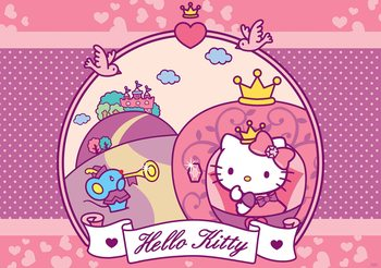 Carta da parati Hello Kitty